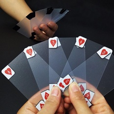 Hình ảnh Waterproof Clear Poker Cards Matte Transparent Magic Deck Cards Game - intl
