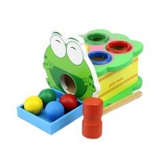 Hình ảnh Weiyue Novelty Funny Toys Ball Hammer Hiting Frog Shape Game Kids Developmental Intellectual Development - intl
