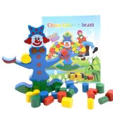 Hình ảnh Weiyue Novelty Funny Toys Clown Building Blocks Balance Skill Handcrafted Developmental Coordination - intl