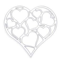 Hình ảnh Whitelotous Cutting Dies Stencil Metal Mould for DIY Scrapbook Album Paper Card (Hollow Out Heart) - intl