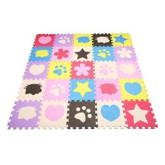 Hình ảnh Whyus 10pcs Soft EVA Foam Lovely Pattern Puzzle Mat Pad Floor Crawling Rugs Baby Toy Games - intl