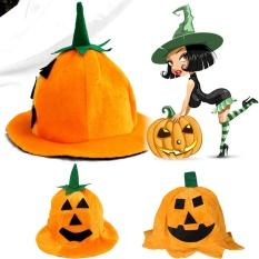 Hình ảnh Whyus-Lovely Halloween Party Props Hats Orange Cloth Pumpkin Smiling Face Hat (Square Eye) - intl