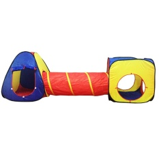 Hình ảnh Womdee Outdoor Indoor Playhouse Tent With Tunnel 3-Piece Play Tent For Kids Great For Fun,Red Yellow Blue - intl