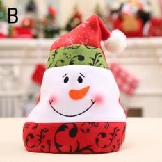 Hình ảnh Áo Giáng Sinh Nón cotton Màu Xanh và trắng cô bé sứ mũ lưỡi trai Unisex Người Lớn Xmas Đỏ Đô Santa Mới Lạ Nón Giáng Sinh casquette b-28 * 38 cm-quốc tế