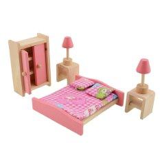 Hình ảnh Búp Bê bằng gỗ Nội Thất Phòng Tắm-Phòng Ngủ-QUỐC TẾ