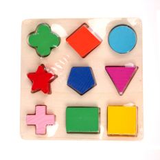 Hình ảnh Wooden fraction shape puzzle toy for Montessori early learning A63b (Intl)