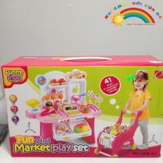 Hình ảnh Xe đẩy siêu thị Fun2in1 Market Playset KTA947