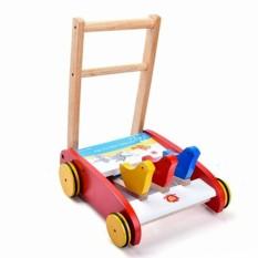 Xe tập đi bằng gỗ phát tiếng kêu vui nhộn cho bé