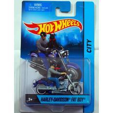 Bán Xe Mo To Mo Hinh Tỉ Lệ 1 64 Hot Wheels Harley Davidson Fat Boy With Dog Xanh