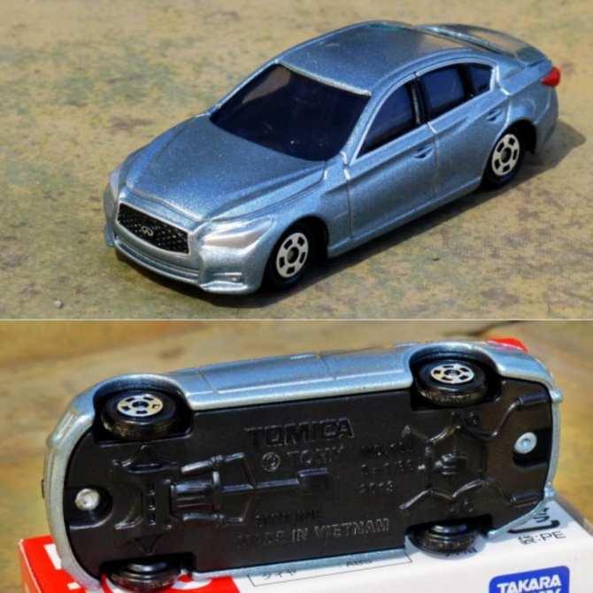 Hình ảnh Xe Ô Tô Mô Hình Tomica Nissan Skyline 2013 Silver