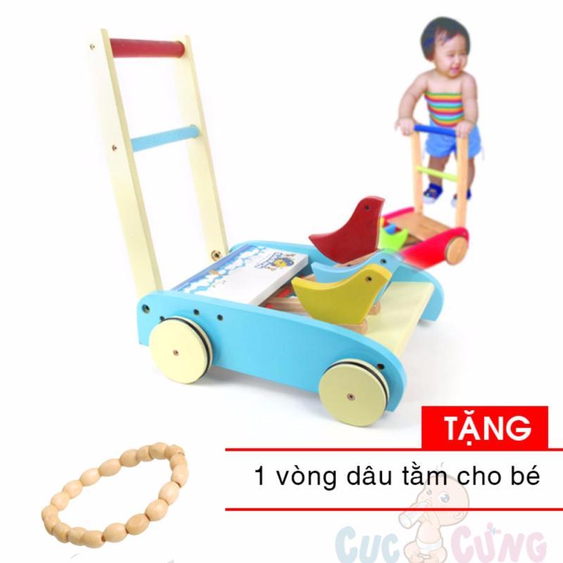 Xe tập đi bằng gỗ Song Son TẶNG 1  vòng dâu tằm cho bé