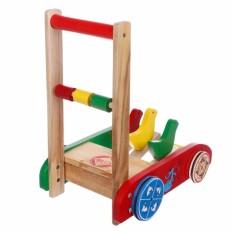 Xe tập đi gỗ hình con gà đáng yêu cho bé mã 03