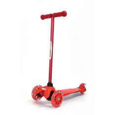 Hình ảnh Xe trượt Scooter trẻ em có đèn Chrome Wheels (Đỏ)