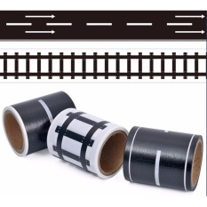 Hình ảnh Yika Children handmade DIY stickers toys no trace paste track transport tape scene toys combination of - intl