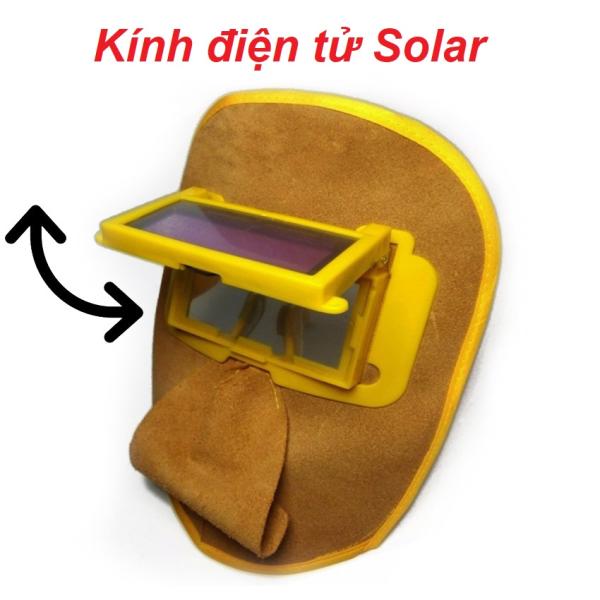 Bảng giá Mặt nạ da hàn che mặt có kính hàn điện tử - phụ kiện hàn mig, hàn tig- kính cảm biến tự động - Bảo hành 1 đổi 1 bởi ALI247