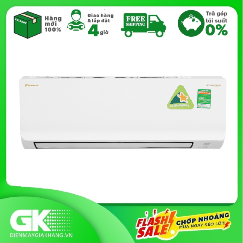 Bảng giá [Trả góp 0%]Máy lạnh Daikin Inverter 1 HP ATKA25UAVMV Mới 2020