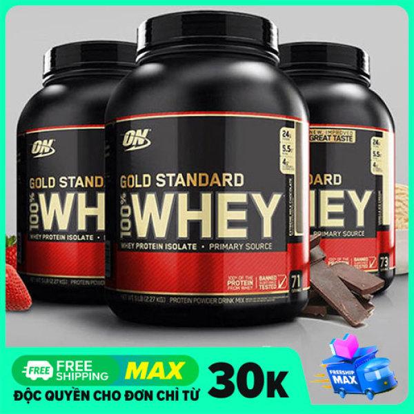 Whey Gold Standard On Protein Nguyên Chất Hộp 5lbs - 2.3kg Tặng Bình Lắc