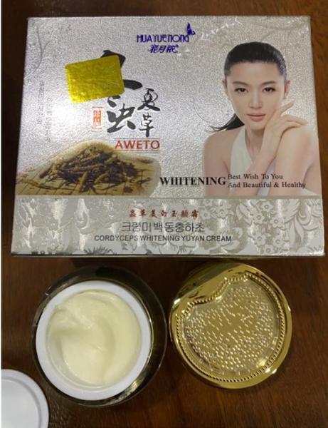 Kem nám tàn nhan trắng da đông trùng hạ thảo Huayuenong whitening aweto 25g