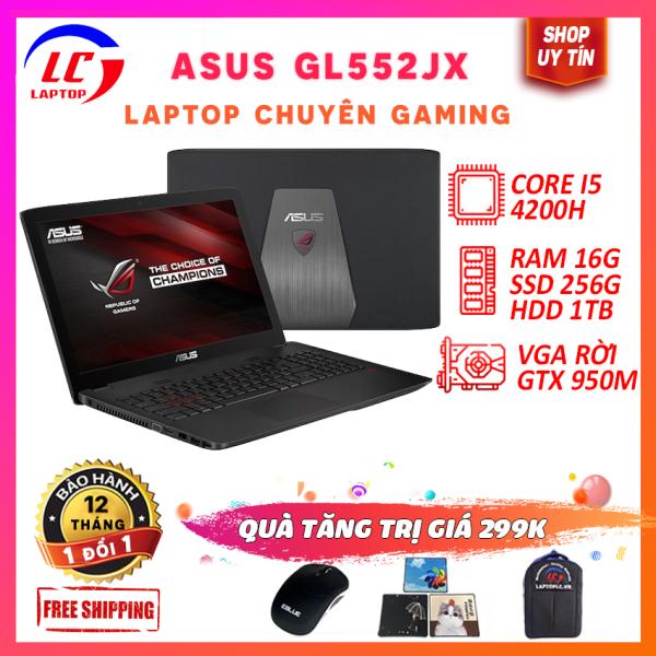 Bảng giá Laptop Gaming Giá Rẻ, Laptop Chơi Game Cao Cấp Asus GL552JX, i5-4200H, VGA Nvidia GTX 950M, Màn 15.6 FullHD, LaptopLC298 Phong Vũ
