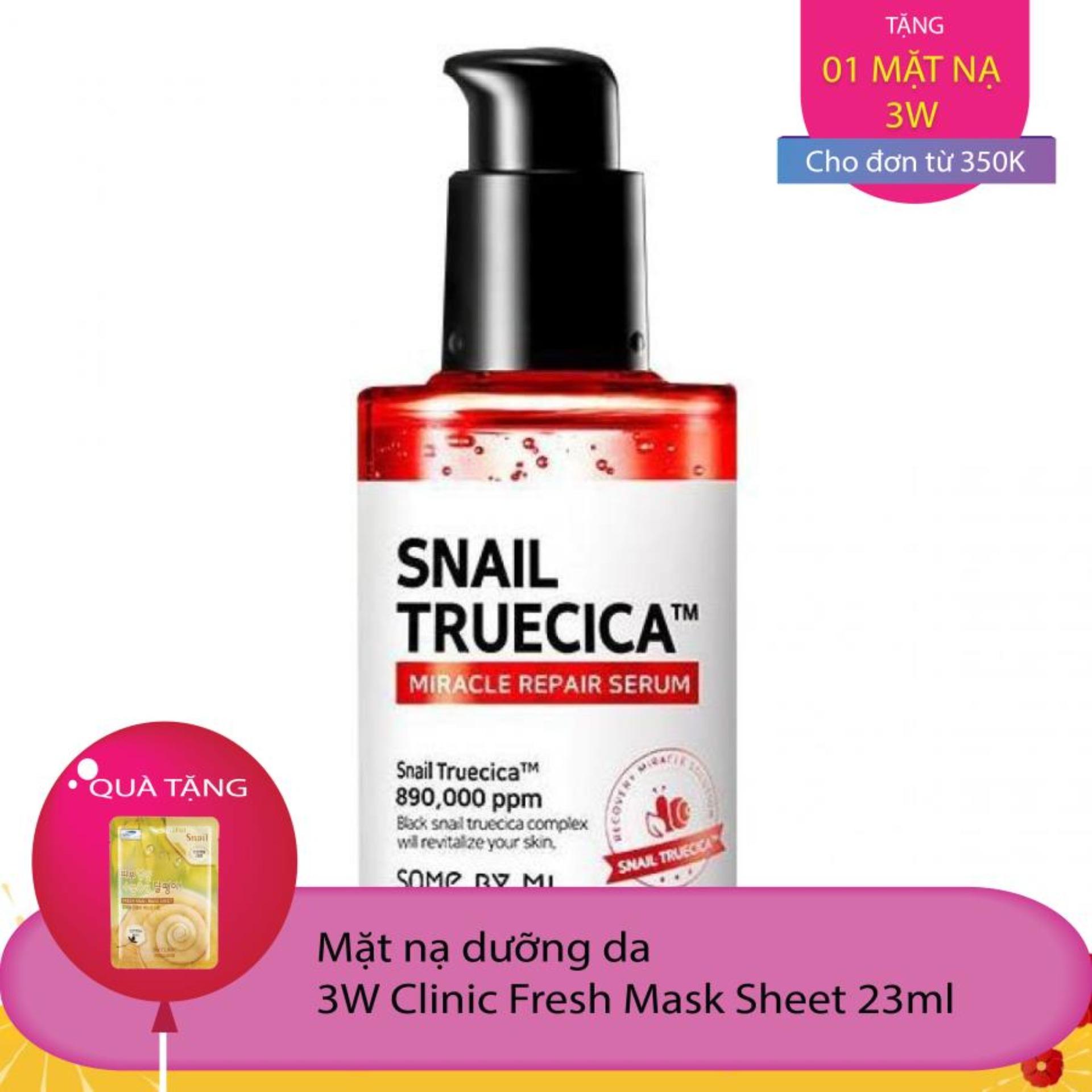 Serum Dưỡng Phục Hồi, Cải Thiện Vết Thâm, Sẹo Some By Mi Snail Truecica Miracle Repair Serum 50ml nhập khẩu