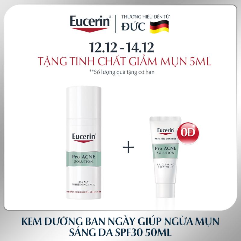 Kem Dưỡng Giảm Mụn Và Trắng Da Ban Ngày Eucerin Pro Acne Day MAT Whitening SPF30 50ml giá rẻ