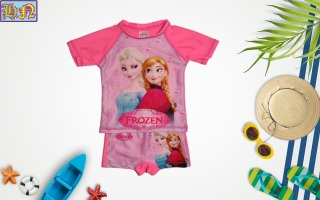 Đồ bơi bé gái hình công chúa Elsa & anna từ 13-42kg-quần áo bơi trẻ em 2 mãnh-hình in sắc nét- Hương Nhiên thumbnail
