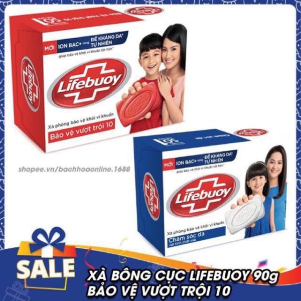 Xà bông cục Lfebuoy 90g, giúp bảo vệ khỏi vi khuẩn gây bệnh suốt cả ngày, mùi hương dễ chịu và thơm lâu