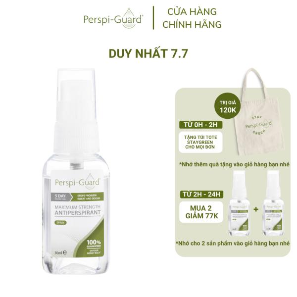 Xịt ngăn mồ hôi toàn thân hiệu quả tối đa Perspi-Guard Maximum Strength Antiperspirant Spray 30ml cao cấp