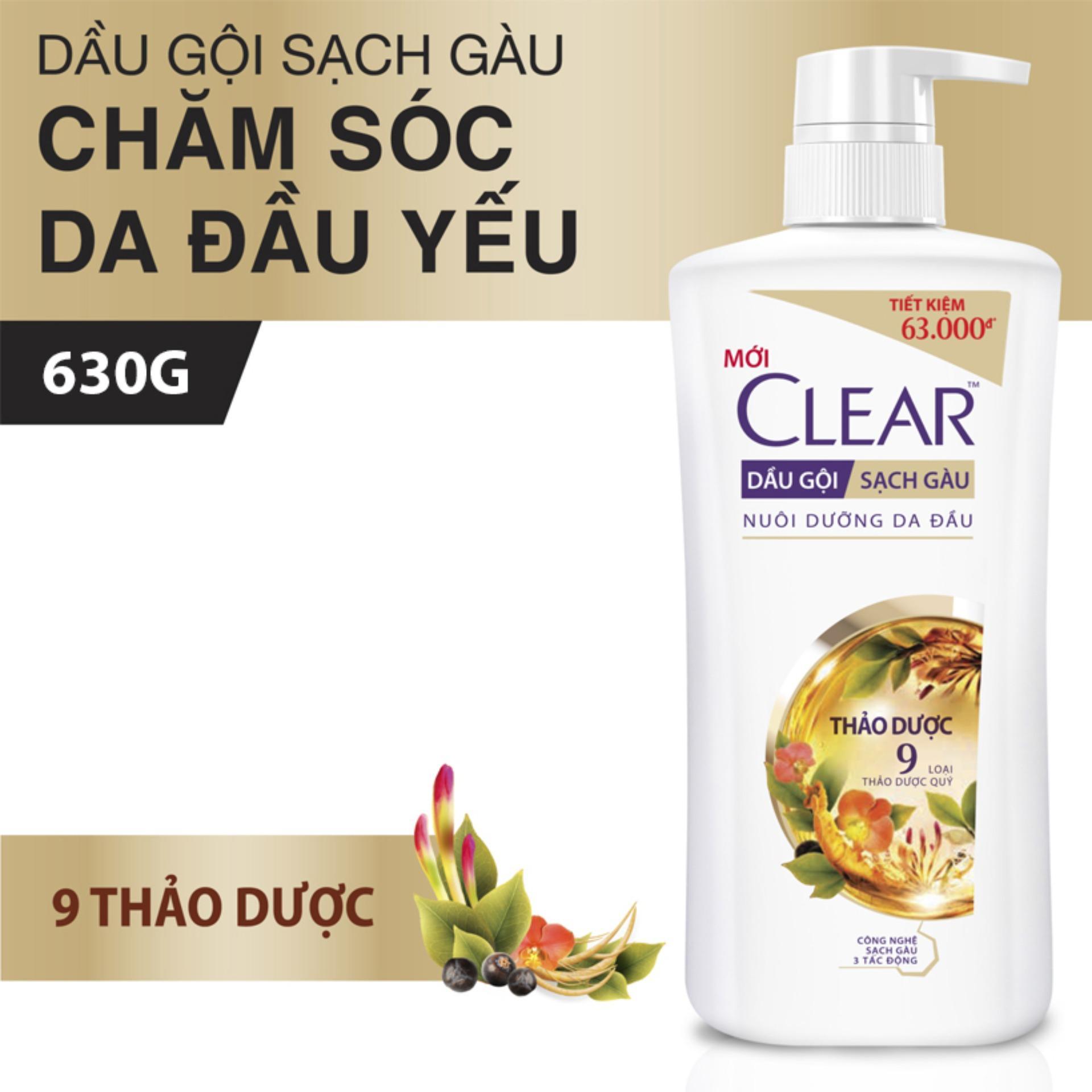 Clear Dầu Gội Thảo Dược 630G
