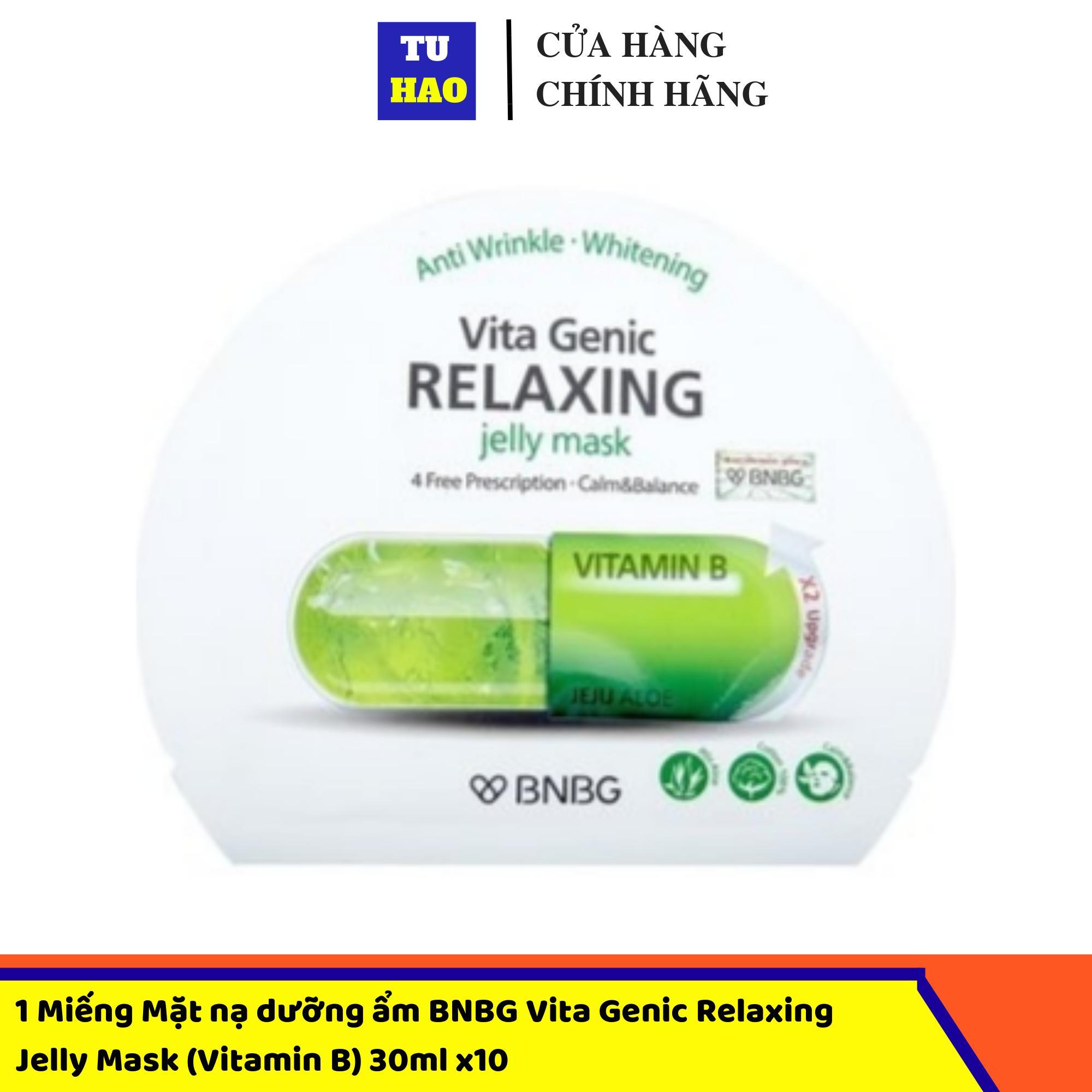 1 Miếng Mặt nạ dưỡng ẩm BNBG Vita Genic Relaxing Jelly Mask (Vitamin B) 30ml x10 cao cấp
