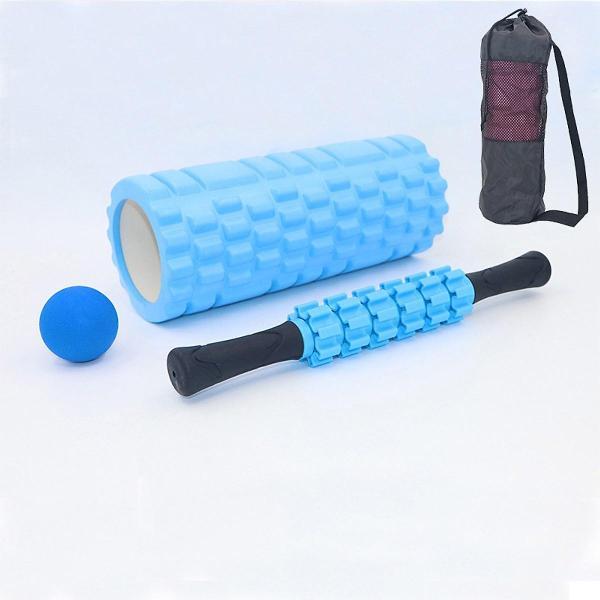 Bộ Dụng Cụ Tập Yoga Cao Cấp Gồm Con Lăn, Bóng Fascia Đơn, Gậy 6 Bánh Massage Cơ Bắp Toàn Thân - - SHOP AFAST VN