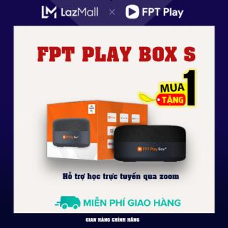 [QUÀ 300K] FPT PLAY BOX S 2021 + Modem 4K T590 + BOX TV KẾT HỢP LOA THÔNG MINH ĐIỀU KHIỂN BẰNG GIỌNG NÓI +Nhận ngay phần quà 300k + 6 tháng gói VIP +Gói xem truyền hình Family Premium 1 năm - Hỗ trợ học trực tuyến qua zoom thumbnail