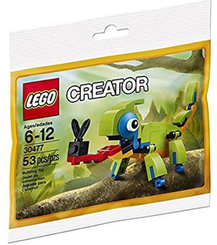 Siêu Tiết Kiệm Khi Mua (Quà Tặng Không Bán ) Đồ Chơi Lego Tắc Kè Hoa 30477 _53 Chi Tiết