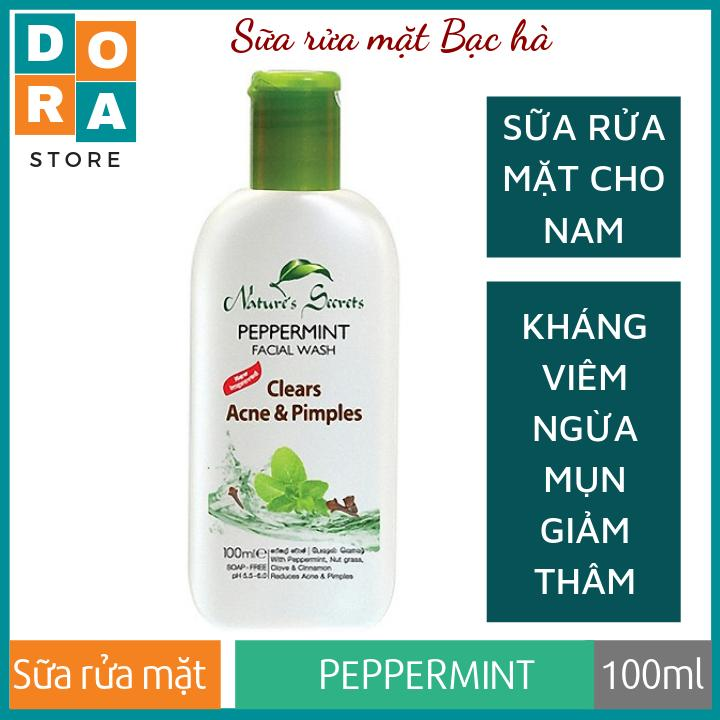 Sữa rửa mặt cho nam Peppermint Extract Facial Cleansing Gel 100ml
