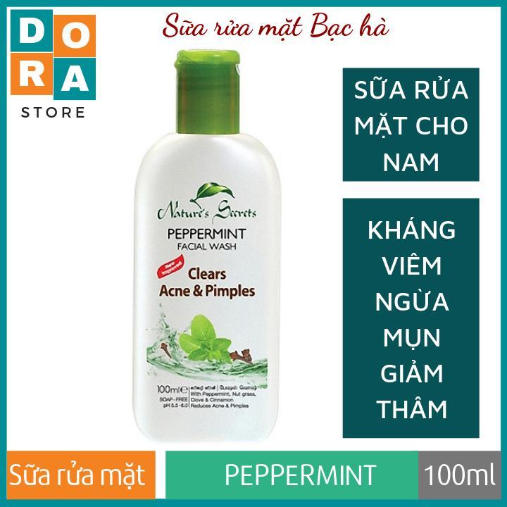 Sữa rửa mặt cho nam Peppermint Facial Wash dạng gel 100ml