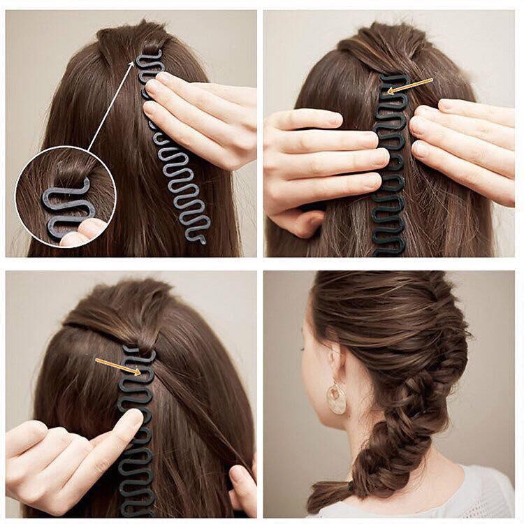 Combo 2 dụng cụ bím tóc đuôi tôm cao cấp