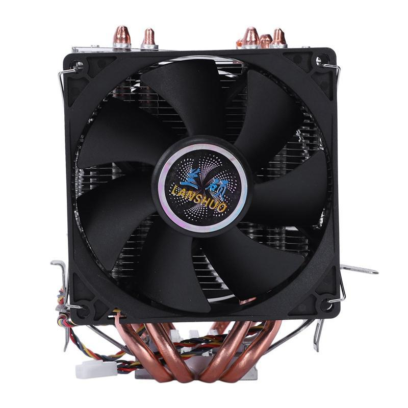 Bảng giá LANSHUO 4 Heat Pipe 4 Wire Without Light Double Fan Cpu Fan Radiator Cooler Heat Sink For Intel Lga 1155/1156/1366 Cooler Heat Sinks(Black) Phong Vũ