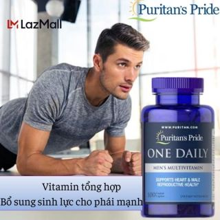 Sales 65% Bổ sung vitamin đa sinh tố D3 vitamin C vitamin B Kẽm zn và Selenium tăng cường miễn dịch cho người mắc Covid (HSD 30 2 2022) One daily Men 100v của Puritan s Pride thumbnail