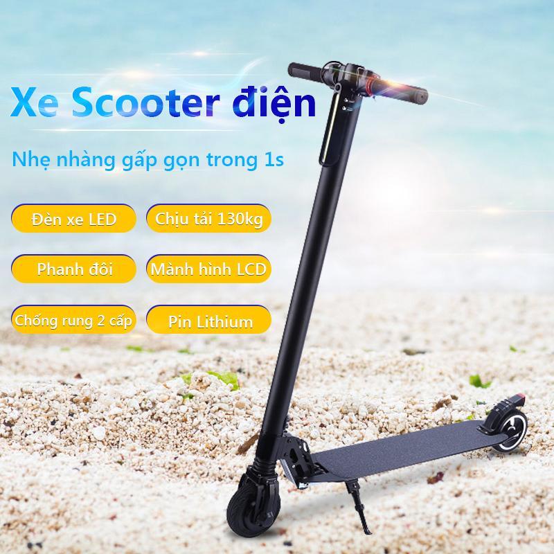 Giá bán Xe Scooter xe trượt điện mini có thể gấp thanh thiếu niên nam nữ đi làm đi học tiện lợi