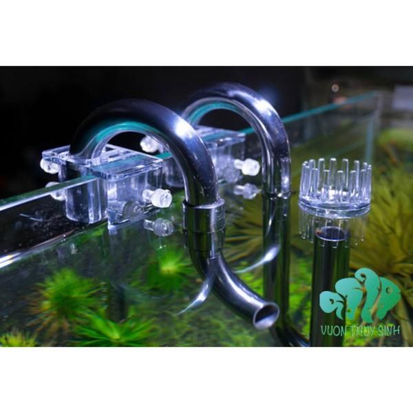 Ống IN OUT INOX MUFAN  fi16 (đầu out xoay chỉnh dòng có lọc váng)