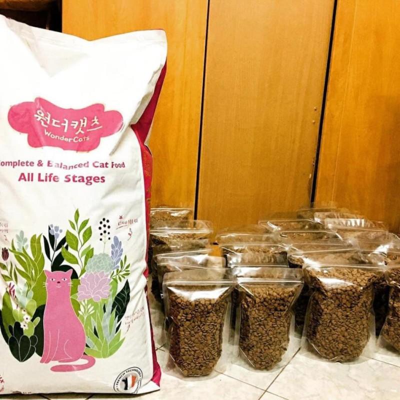 [Tặng X.xích] Thức ăn hạt cho mèo WONDER CAT 5kg túi zip