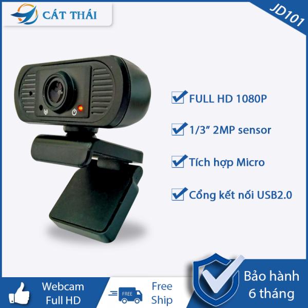 Bảng giá [HCM]Webcam JD101 FULL HD 1080P cổng kết nối USB cắm vào là dùng tích hợp sẵn Micro độ phân giải 1920x1080 30FPS dùng được cho laptop và PC Phong Vũ