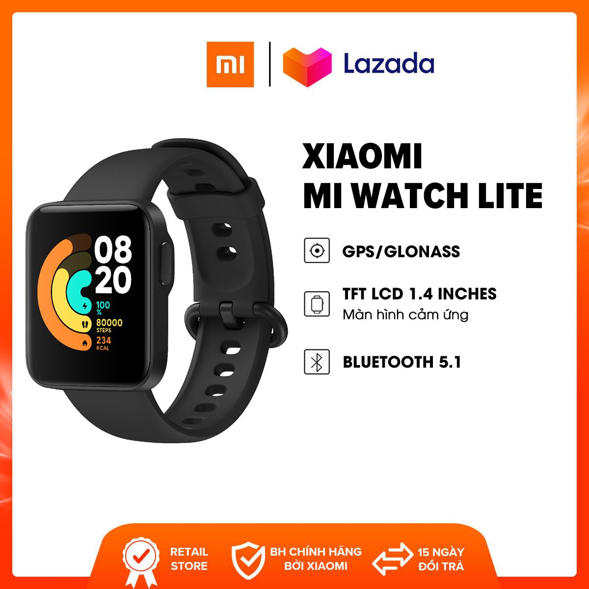 Đồng hồ thông minh Xiaomi Mi Watch Lite l GPS + Glonass l TFT LCD 1.4 inches (320 x 320 pixels), 323PPI l Bluetooth 5.1 l Hỗ trợ 11 chế độ thể thao l Chống nước 5 ATM l HÀNG CHÍNH HÃNG