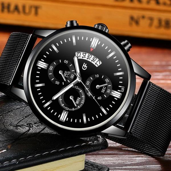 Nơi bán Đồng hồ nam GADYSON dây thép lụa đen chạy lịch ngày cao cấp Special Design - Đẳng Cấp Phái Mạnh ZVT01 (Full hộp)