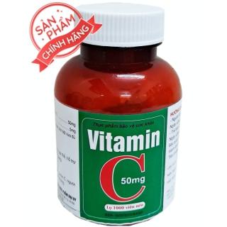 [Lọ 1000 viên] Viên uống Vitamin C 50mg- Giúp bổ sung Vitamin C, tăng đề kháng cho cơ thể thumbnail