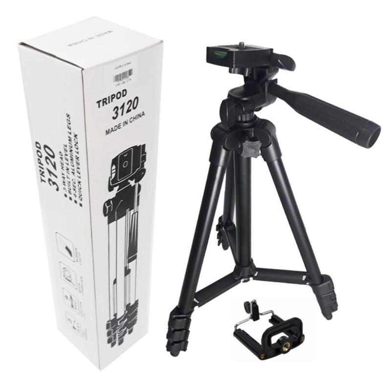 Chân máy ảnh Tripod 3120 Mẫu Mới nhất 2019 tặng kèm đầu kẹp, Chống Rung