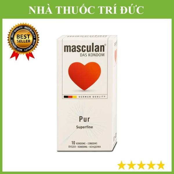 hộp 10c Bao cao su Masculan Pur siêu mỏng hương Vani