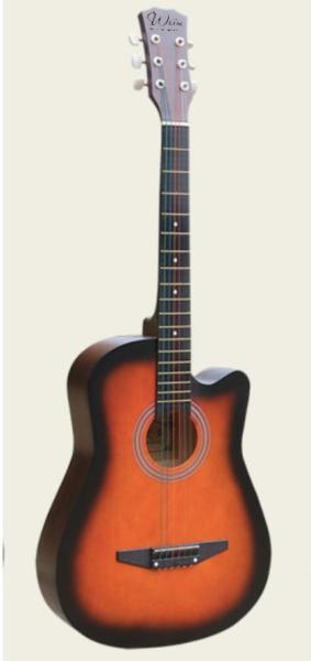 Đàn Guitar Gỗ Màu Đen Acoustic Dáng Khuyết