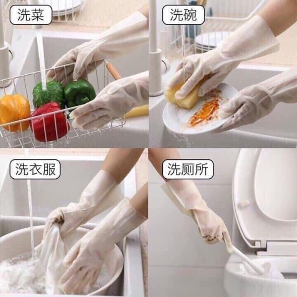 Giá bán Hàng Loại 1 - Găng tay cao su siêu dai cao cấp cắt không đứt (Bộ 2 chiếc) KL677
