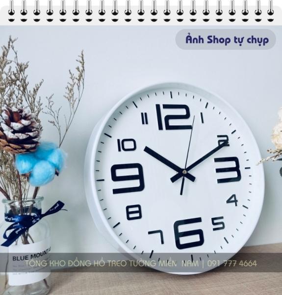 [SALE GIÁ HỦY DIỆT] Đồng hồ treo tường Quartz kim trôi cao cấp, 30 cm - BẢO HÀNH 12 THÁNG-[20 màu tươi trẻ] bán chạy